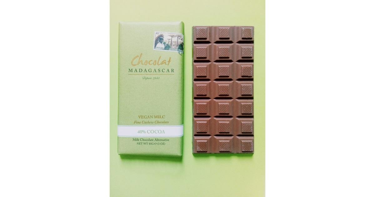 Chocolat Madagascar Fine Cashew Vegan Milk Chocolate 40%