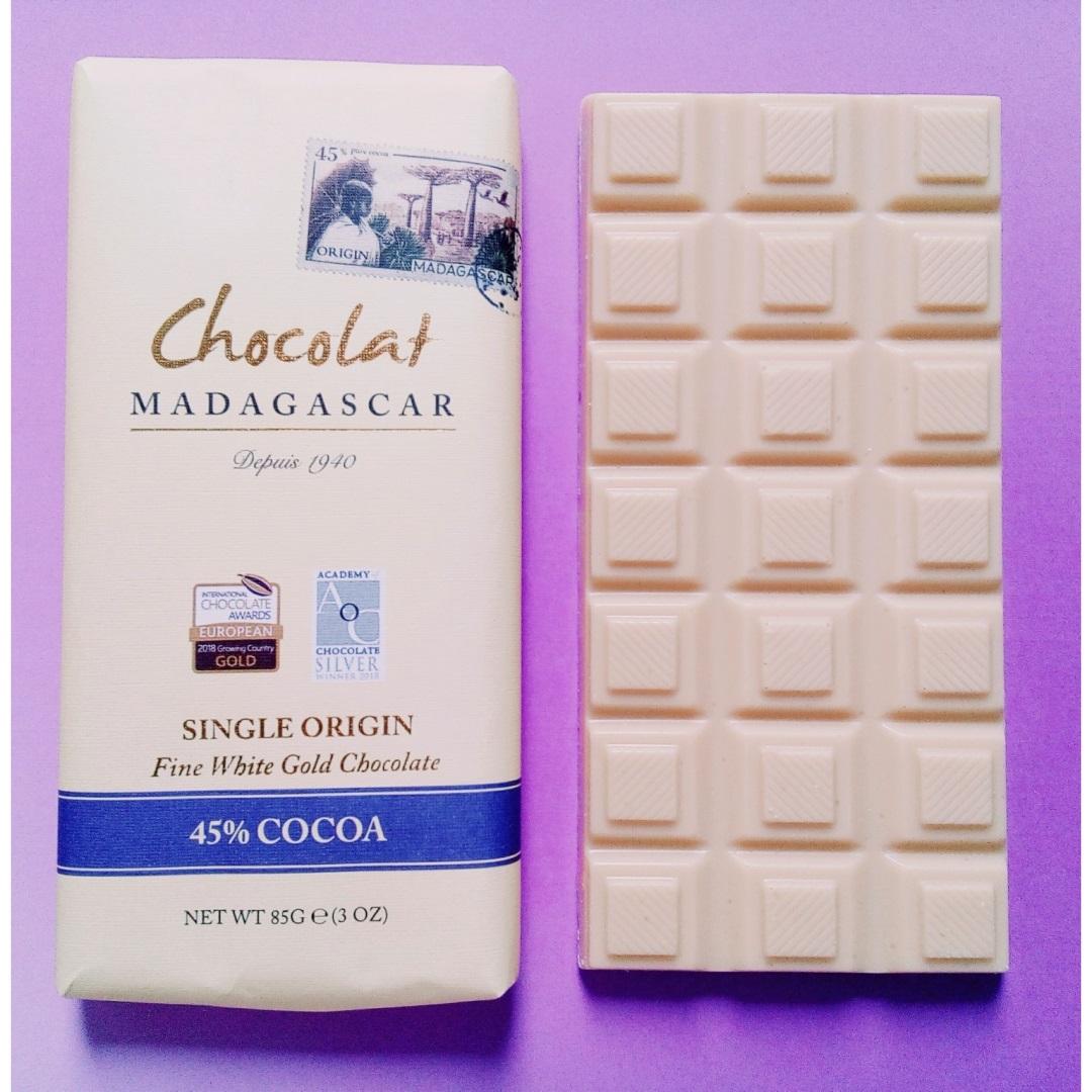 chocolat madagascar fine white gold chocolate